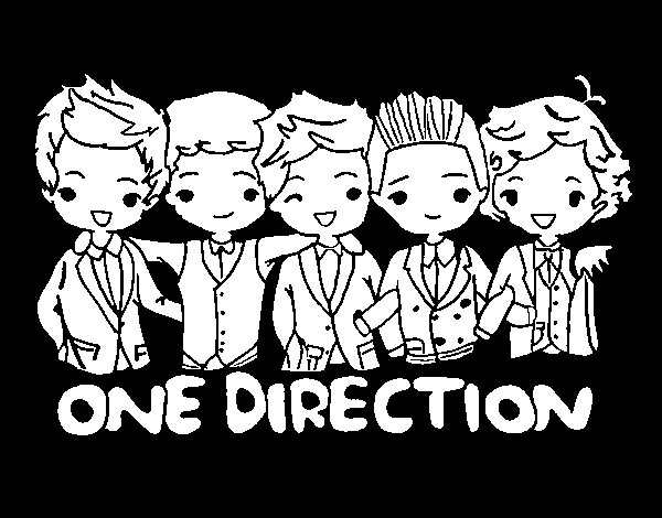 Dibujo de One direction para Colorear