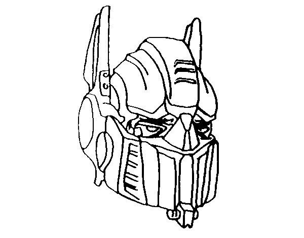 dibujo de optimus prime para colorear