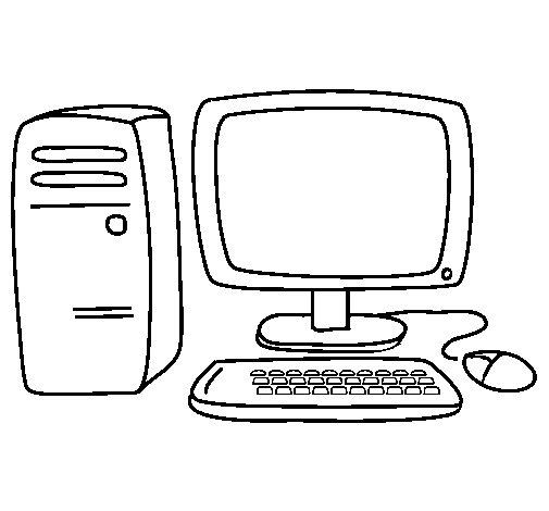 Dibujo de Ordenador 3 para Colorear - Dibujos.net