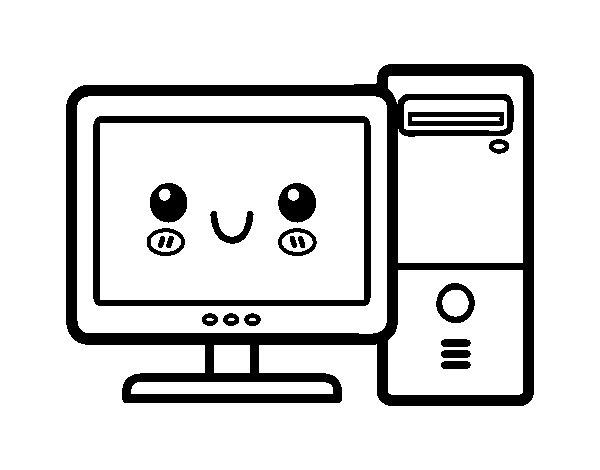 Dibujo de Ordenador de sobremesa para Colorear - Dibujos.net