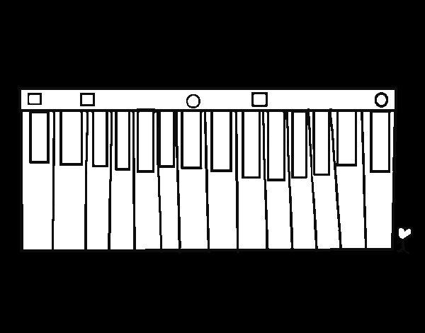Dibujo de Órgano musical para Colorear