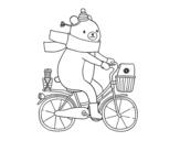 Dibujo de Osito transportista para colorear