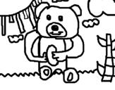 Dibujo de Oso 1 para colorear