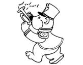 Dibujo de Oso trompestista