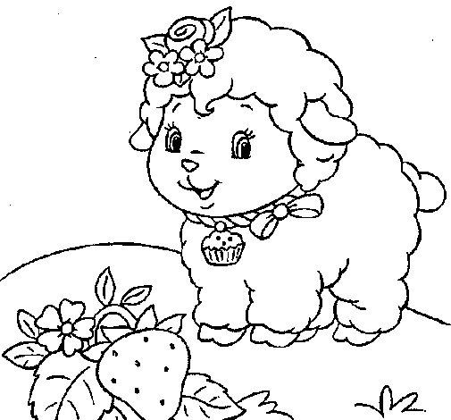 Dibujo de Oveja 4 para Colorear