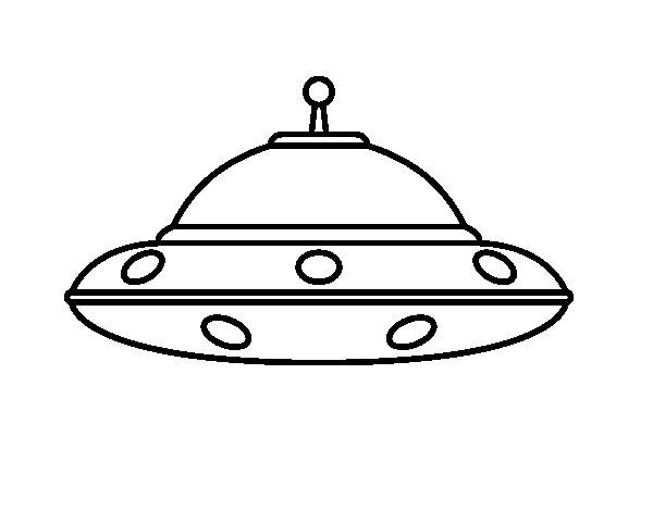 Dibujo de OVNI extraterrestre para Colorear