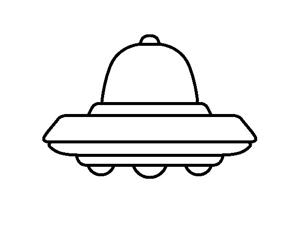 Dibujo de OVNI volador para Colorear