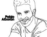Dibujo de Pablo Alborán primer plano