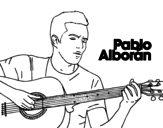 Dibujo de Pablo Alborán - Solamente tú para colorear