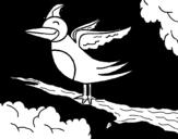 Dibujo de Pájaro en arbol