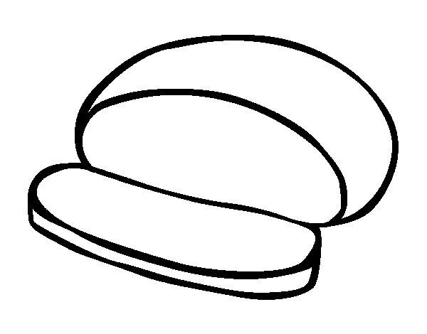 Dibujo de Pan redondo para Colorear