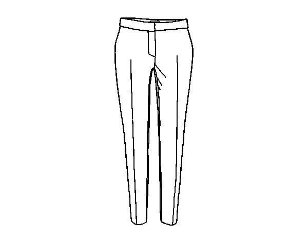 Colorear Dibujo Pantalón En Línea: Dibujo De Pantalones De Pinza Para Colorear