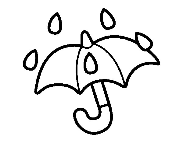 Paraguas pero para colorear - Imagui