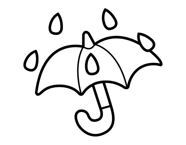 Dibujo de Paraguas abierto para Colorear - Dibujos.net