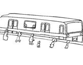 Dibujo de Pasajeros esperando al tren para colorear