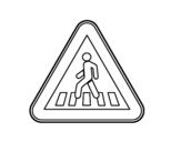 Dibujo de Paso de peatones para colorear