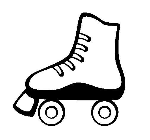 Dibujo de Patín sobre ruedas para Colorear