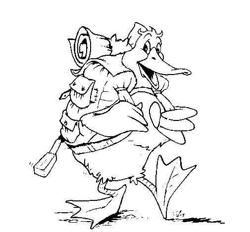 Dibujo de Pato excursionista para Colorear