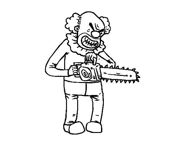Dibujo de payaso asesino para colorear for Immagini di clown da colorare