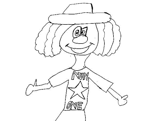 Dibujo de Payaso number one para Colorear