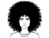 Dibujo de Peinado afro