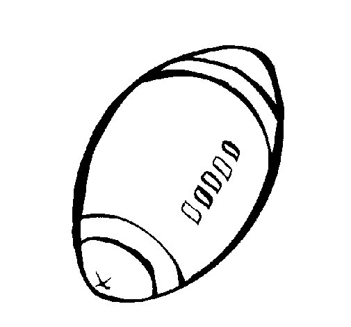 Dibujo de Pelota de fútbol americano para Colorear