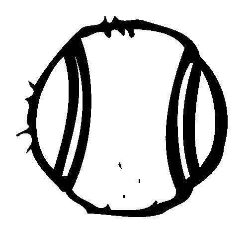 Dibujo de Pelota de tenis para Colorear