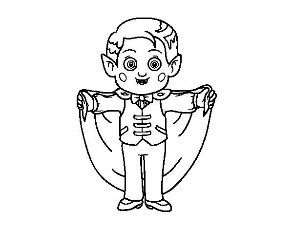 Dibujo de Pequeño vampiro para Colorear