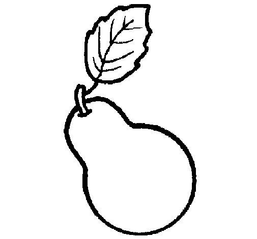 Dibujo de Pera para Colorear