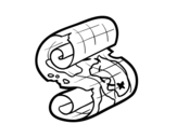 Dibujo de Pergamino pirata para colorear