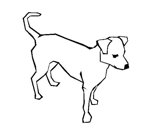 Dibujo de Perro 6a para Colorear
