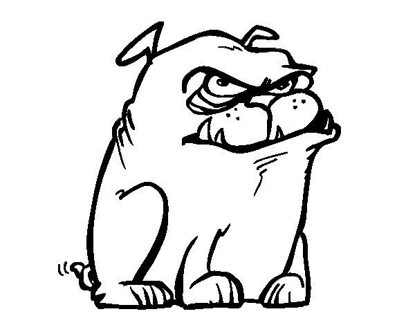 Dibujo de Perro cabreado para Colorear