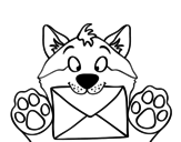 Dibujo de Perro con carta
