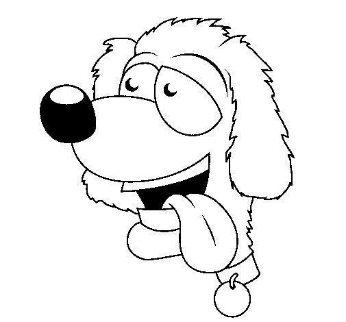 Dibujo de Perro con la lengua fuera II para Colorear