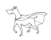 Dibujo de Perro superhéroe para colorear