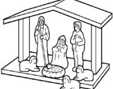 Dibujo de Pesebre de navidad 1