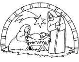Dibujo de Pesebre de navidad