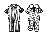 Dibujo de Pijamas para colorear