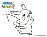 Dibujo de Pikachu de espaldas para colorear