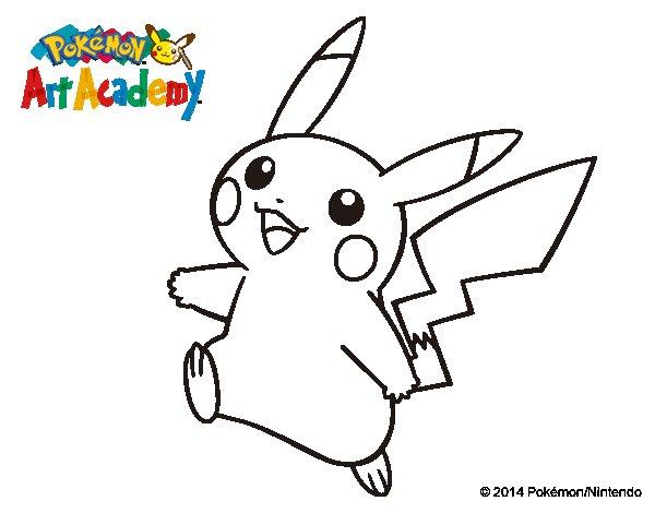 150 Dibujos De Pokemon Para Colorear: Dibujo De Pikachu En Pokémon Art Academy Para Colorear