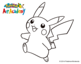 Dibujo de Pikachu en Pokémon Art Academy