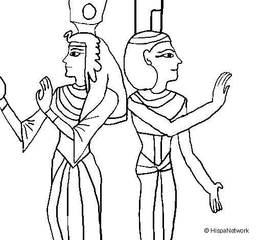 Dibujo de Pintura de la Reina Nefertari para Colorear ...