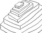 Dibujo de Pirámide maya para colorear