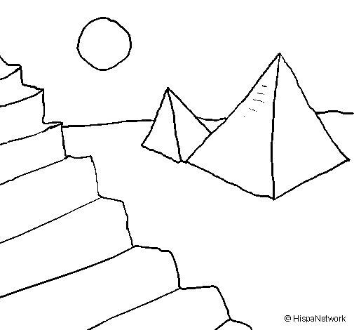 Dibujo de Pirámides para Colorear