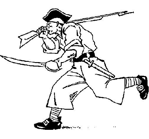 Dibujo de Pirata con espadas para Colorear