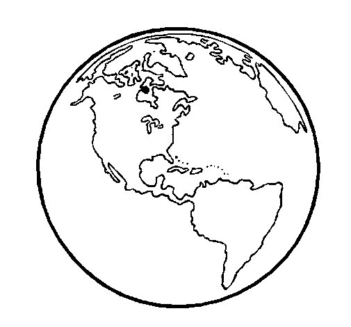 Dibujo de Planeta Tierra 1 para Colorear