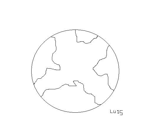 Dibujo de Planeta tierra 2 para Colorear