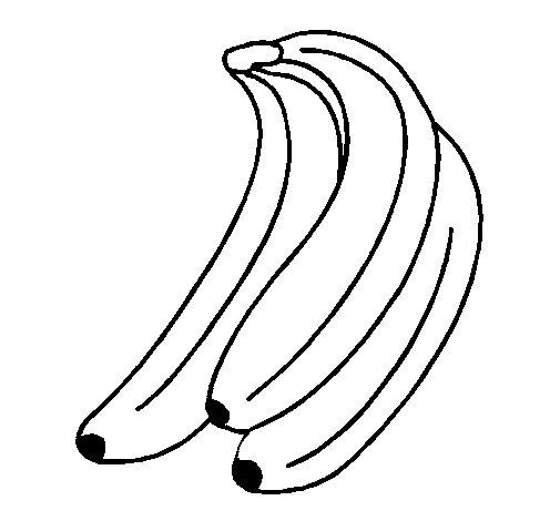 Dibujo de Plátanos para Colorear