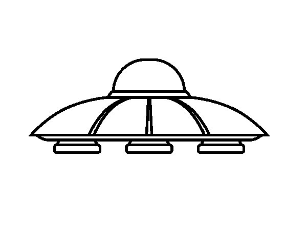 Dibujo de Platillo volante alien para Colorear