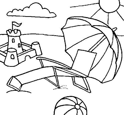 Dibujo de Playa para Colorear